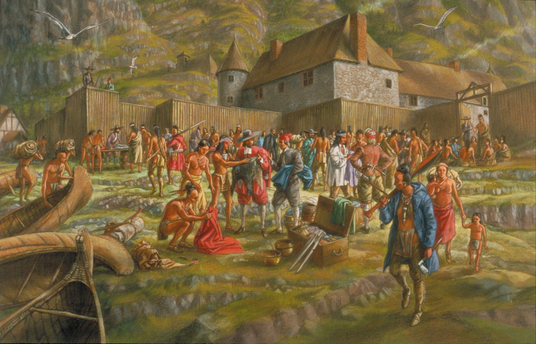 Scène de traite à QuébecFrancis Back. Gouache, encre et crayon, 1994